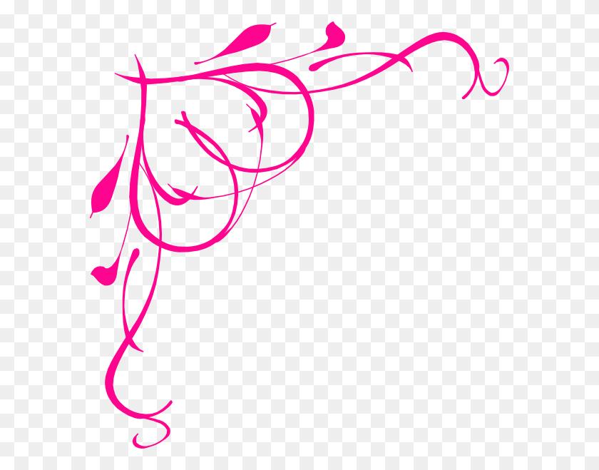 Hot Pink Heart Border Png Large Size - Geometric Border Clip Art