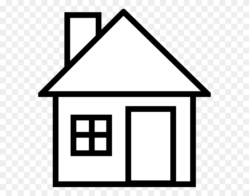 582x600 House Clipart Black And White - Rzr Clipart