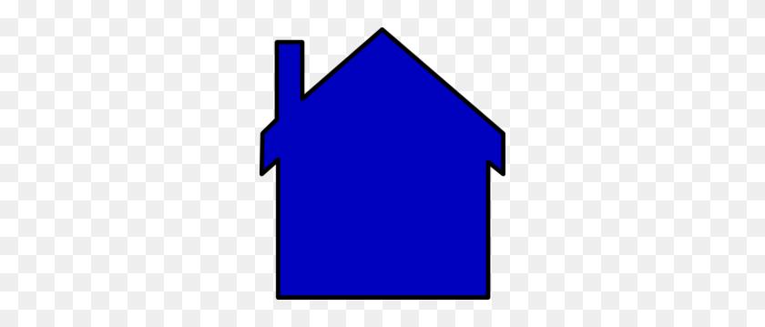 House Clipart Blue - House Clipart Outline