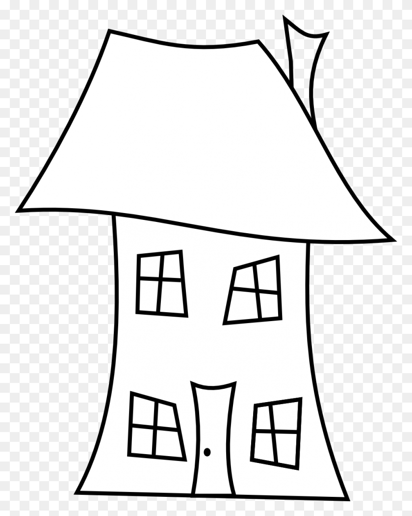 House Line Art Clip Art Download - Gingerbread House Clipart Black And White
