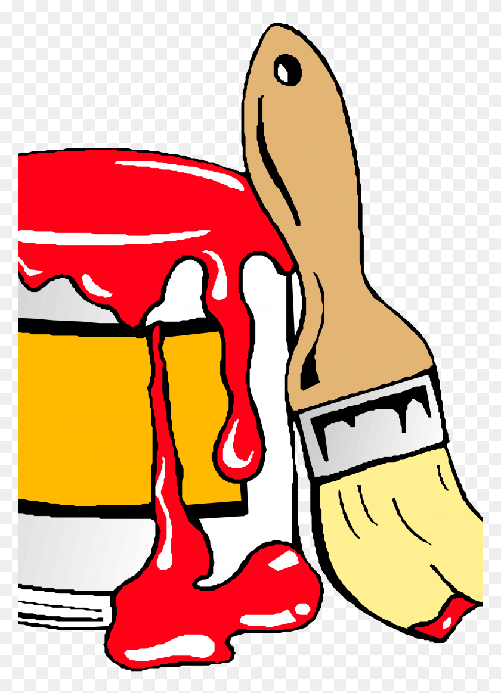 2400x3394 House Paint Clipart Brush Clip Art Crown - Artist Clipart