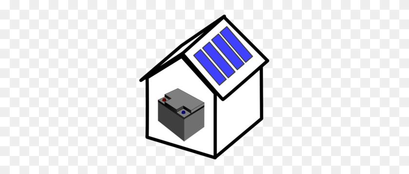 House Solar Battery Clip Art - Solar Clipart