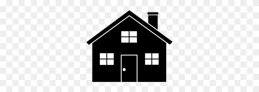 House Without Chimney Silhouette Grey Clipart - Old House Clipart