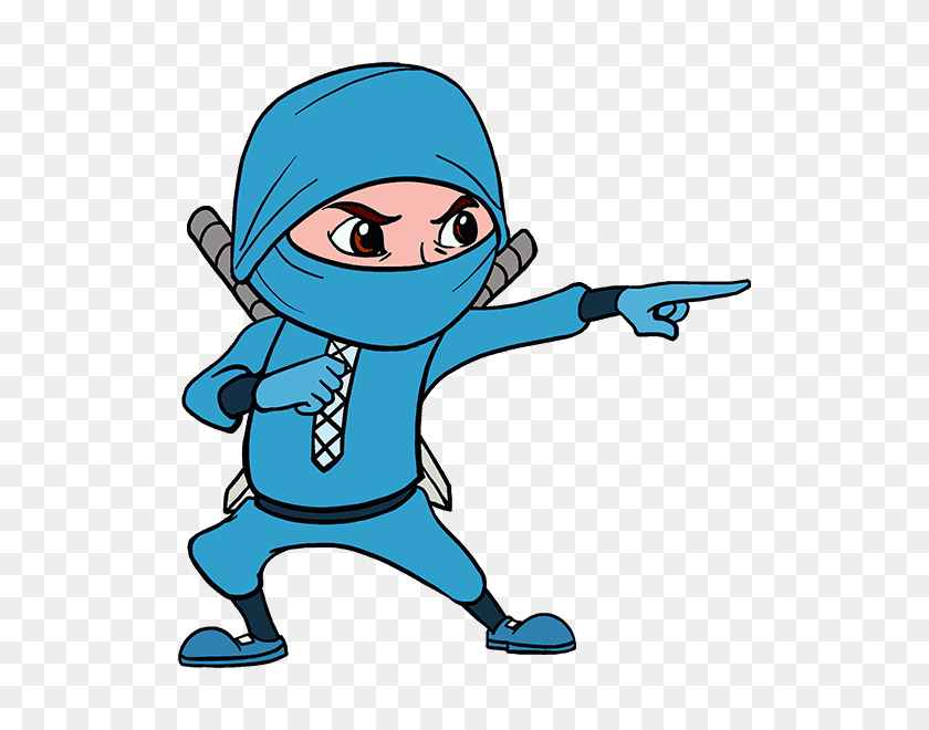 How To Draw A Cartoon Ninja In A Few Easy Steps Easy Drawing Guides - Step By Step Clipart