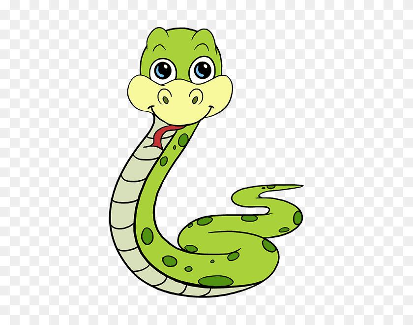 How To Draw A Cartoon Snake Easy Step - Snake Cartoon PNG