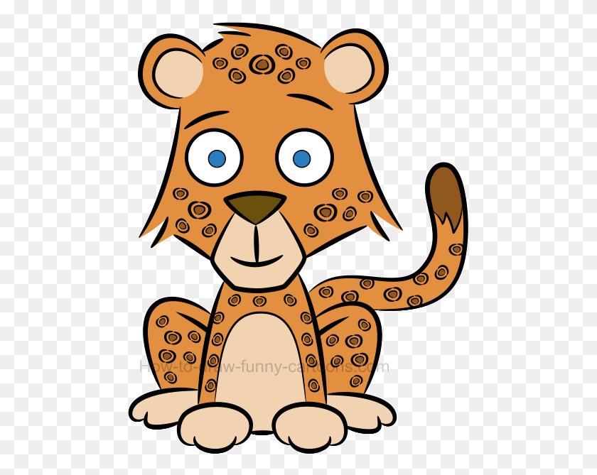 How To Draw A Cute Baby Cheetah - Baby Cheetah Clipart