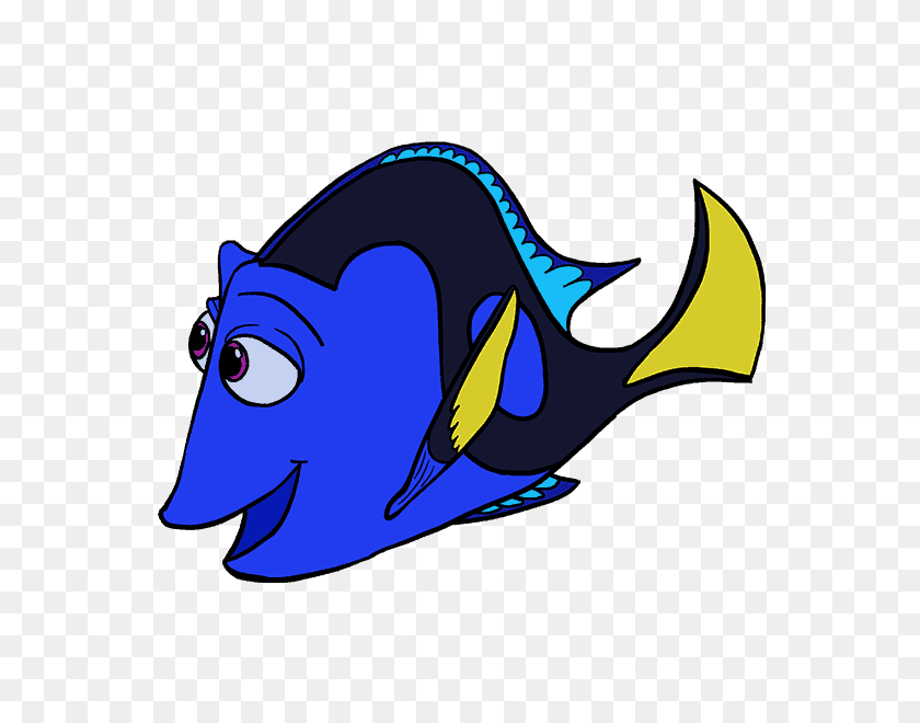 How To Draw Dory In A Few Easy Steps Easy Drawing Guides - Pixar Up Clipart