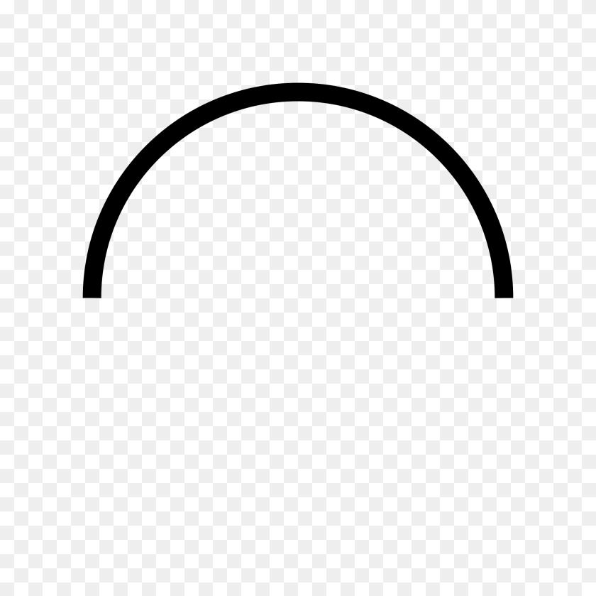 How To Draw Half Circle - Semi Circle PNG