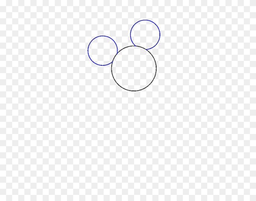 How To Draw Mickey Mouse Easy Drawing Guides - Mickey Mouse Ears Clipart Black And White