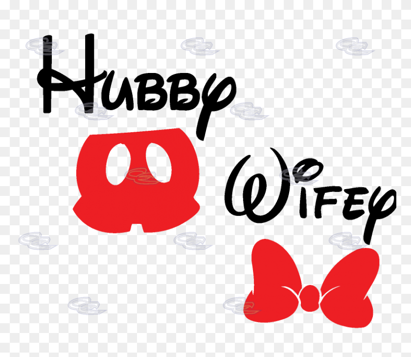 Hubby Wifey Disney Mickey Mouse Red Pants Minnie Mouse Red Bow - Mickey Mouse Pants Clipart