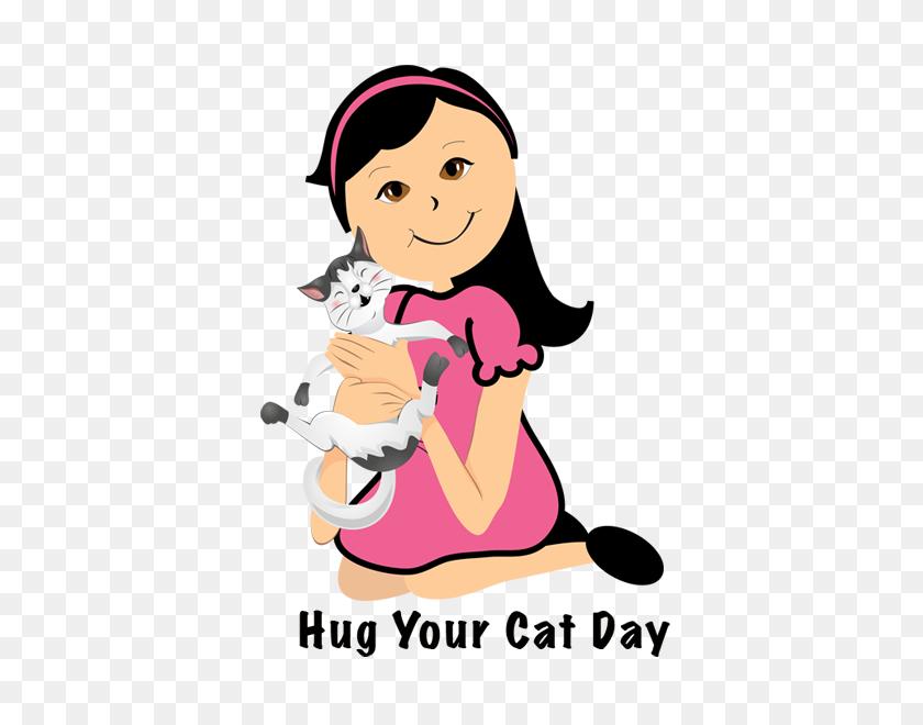 Hug Your Cat - Hug Clipart