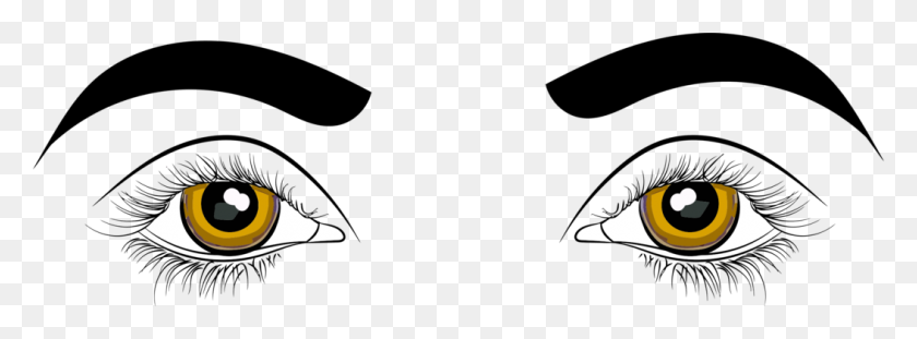 1053x340 Human Eye Crying Tears Drawing - Sad Eyes Clipart