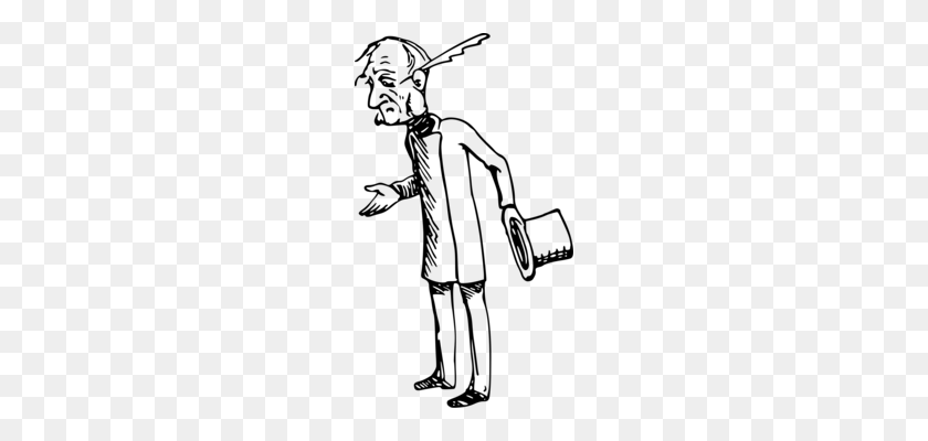 198x340 Human Grandparent Grandfather Drawing - Grandparents Clipart Black And White