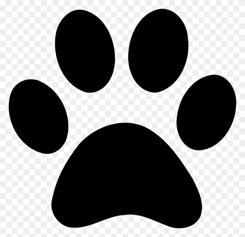 999x962 Husky Paw Clipart Juno Paw Print Clip Art, Dogs - Dog Bowl Clipart