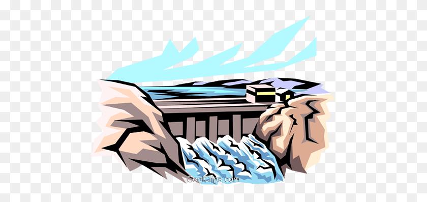 480x337 Hydro Dam Royalty Free Vector Clip Art Illustration - Niagara Falls Clipart