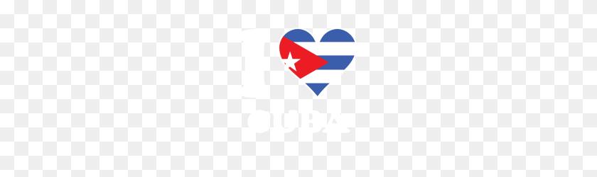 I Love Cuba Cuban Flag Heart - Cuban Flag PNG