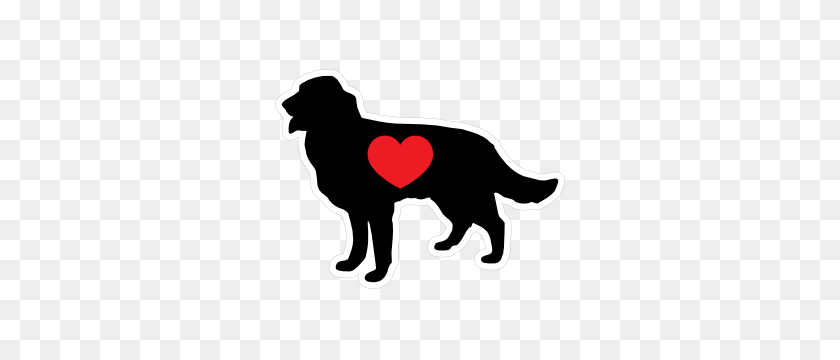 I Love My Australian Shepherd With Big Text Oval Magnet - Australian Shepherd Clipart