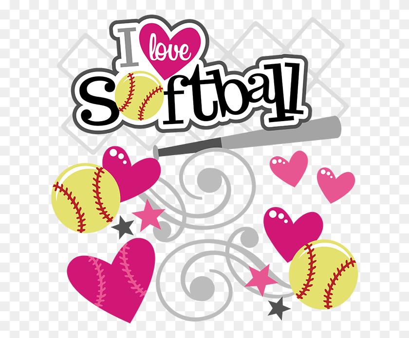 I Love Softball Softball For Scrapbooking - Softball Girl Clipart