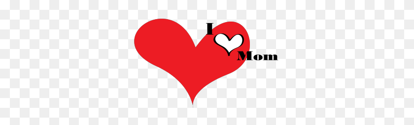 word i love you mom - Clip Art Library