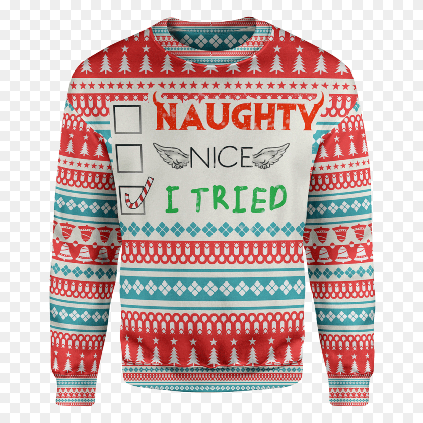 I Tried Christmas Sweater - Ugly Christmas Sweater Clipart
