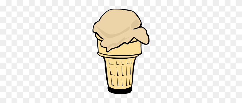 198x298 Ice Cream Cone - Ice Cream Scoop Clipart