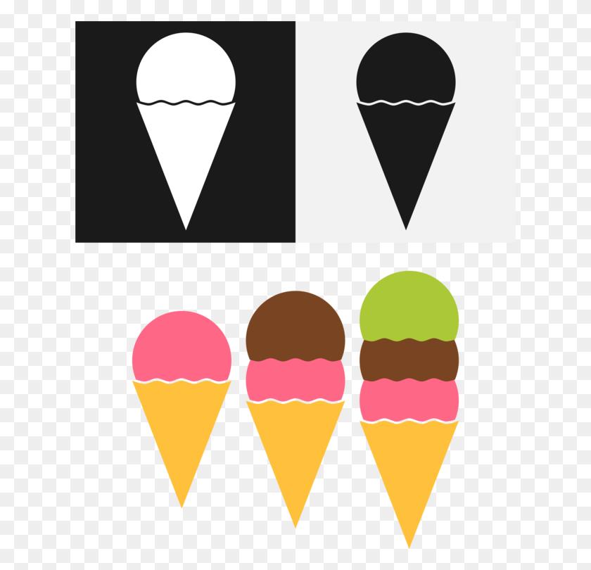 Ice Cream Cones Waffle Dessert - Snow Cones Clipart