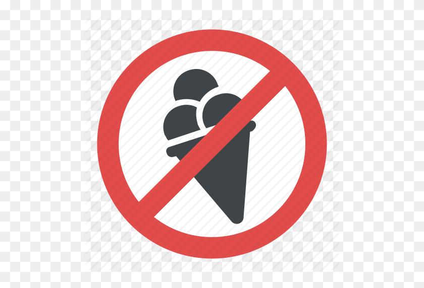 Ice Cream Prohibited Sign, No Ice Cream, No Ice Cream Allowed Sign - Prohibited Sign PNG