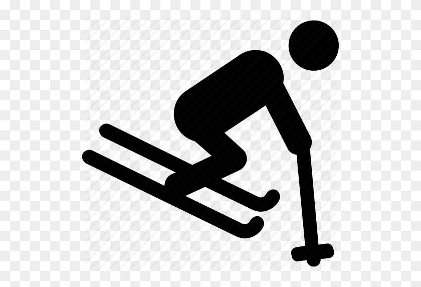 Ice Skating, Ice Skiing, Ski, Skier, Snow Ski Icon - Snow Skiing Clip Art