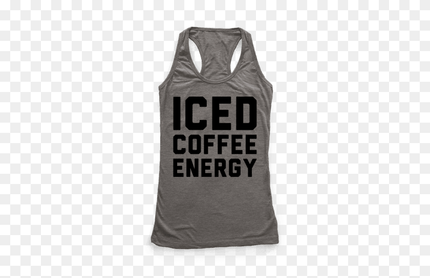 Iced Coffee Racerback Tank Tops Lookhuman - Iced Coffee PNG