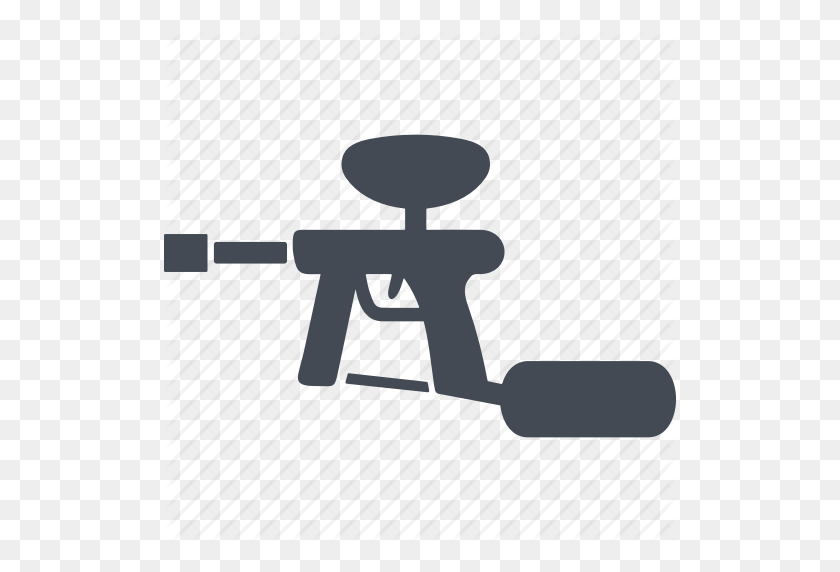 Icon Paintball Guns Paint Ball Marker Gun Design - Paintball Gun Clipart