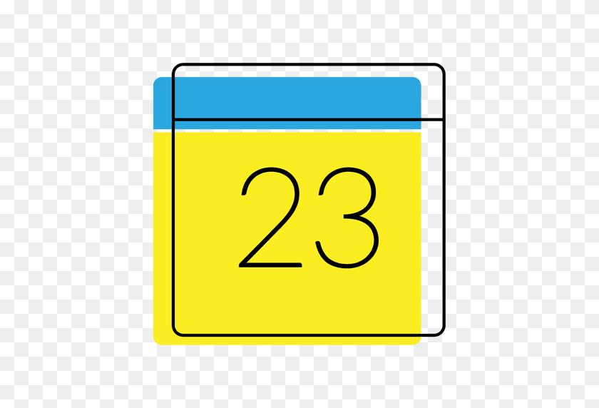 Icono De La Fecha Del Calendario Amarillo Y Azul - Calendario PNG