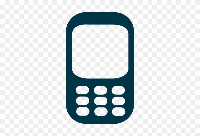 512x512 Icono Del Celular Plana - Icono De Telefono PNG