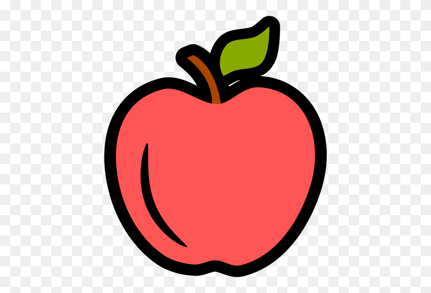Icono Manzana, Fruta Gratis De Fresh Fruit Icons - Manzana PNG