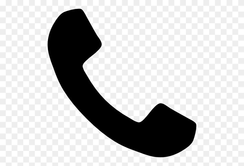 512x512 Icono Telefono, Manejar, Silueta Gratis De Font Awesome Icons - Icono Telefono PNG