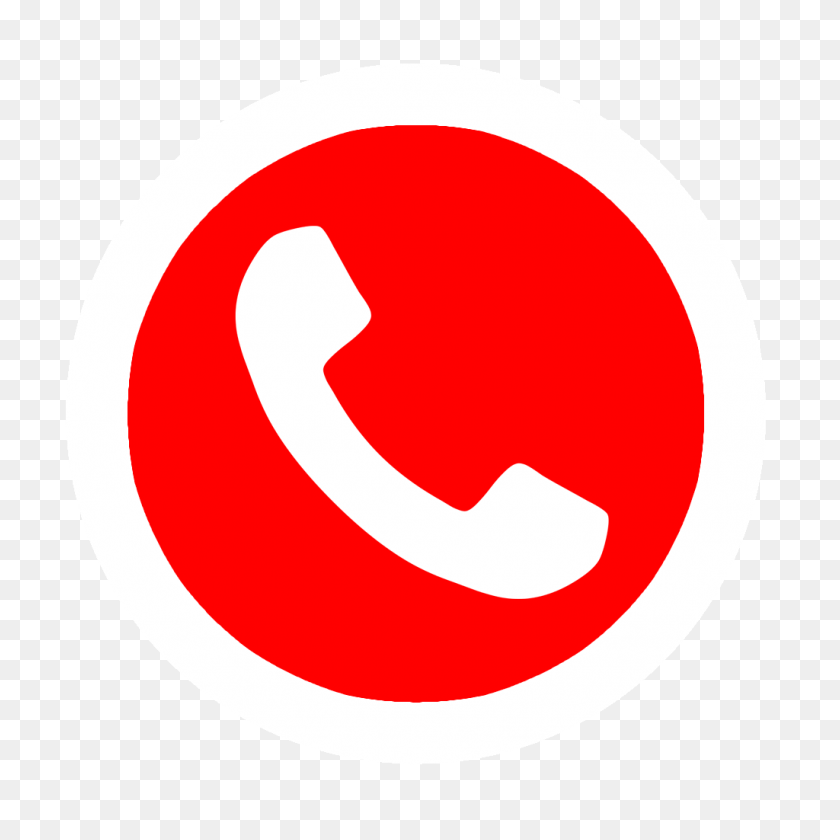 1024x1024 Icono Telefono Rojo Png Png Image - Icono Telefono PNG