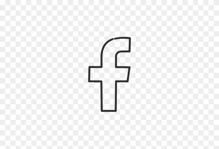 And black white free facebook icon Ultimate Free