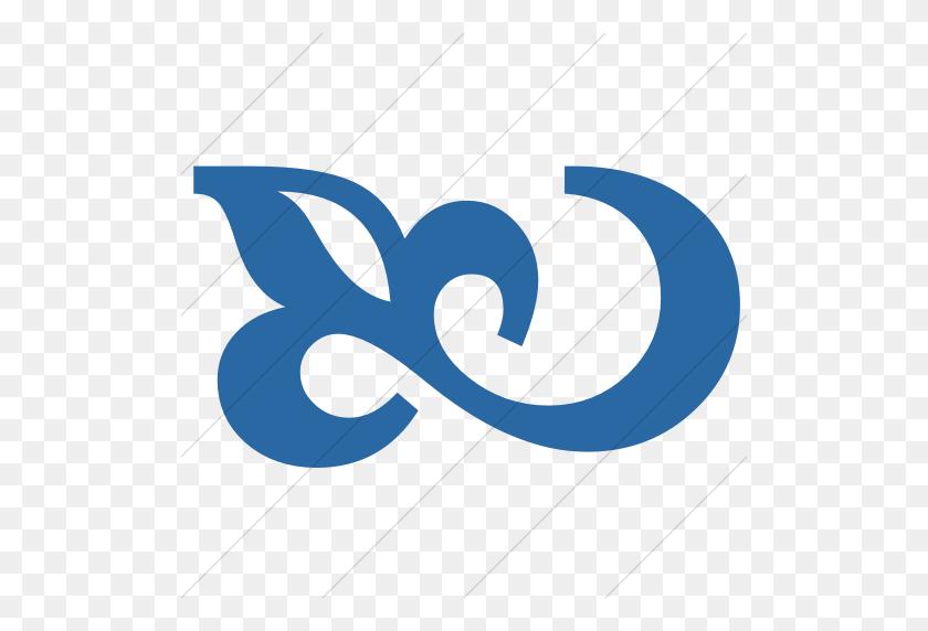 Iconsetc Simple Blue Classica Flourish Icon - Simple Flourish Clipart