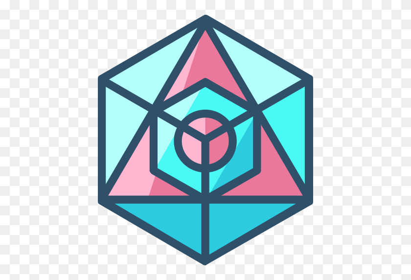 512x512 Icosahedron Png Icon - Sacred Geometry PNG