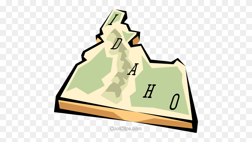 Idaho State Map Royalty Free Vector Clip Art Illustration - Idaho Clipart