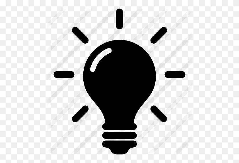 512x512 Idea Y Creatividad De Una Bombilla De Luz - Luz PNG