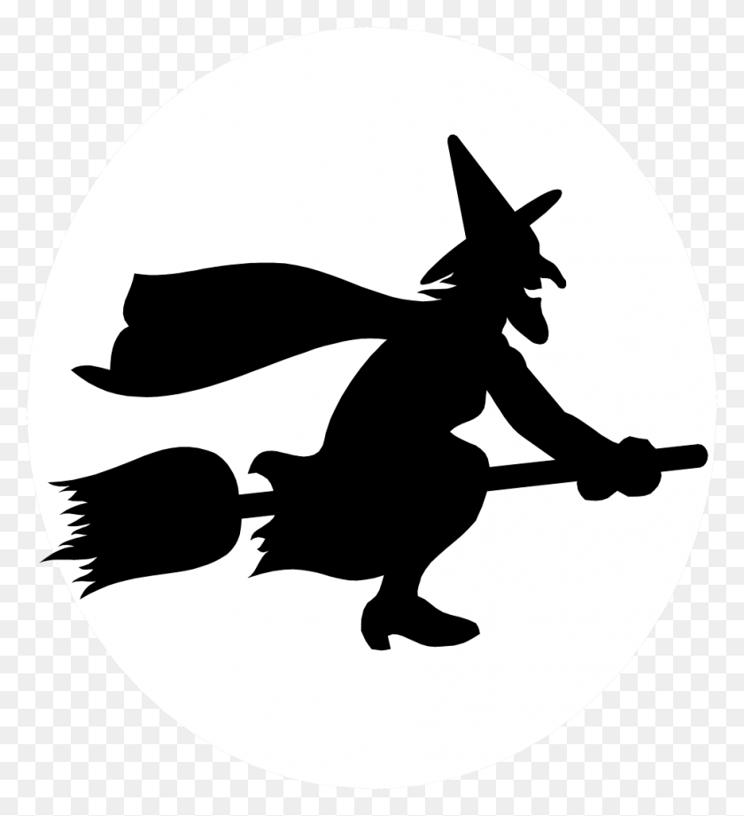 Illustration Of A Witch Flying On A Broomstick Free Stock Photo - Broomstick Clipart