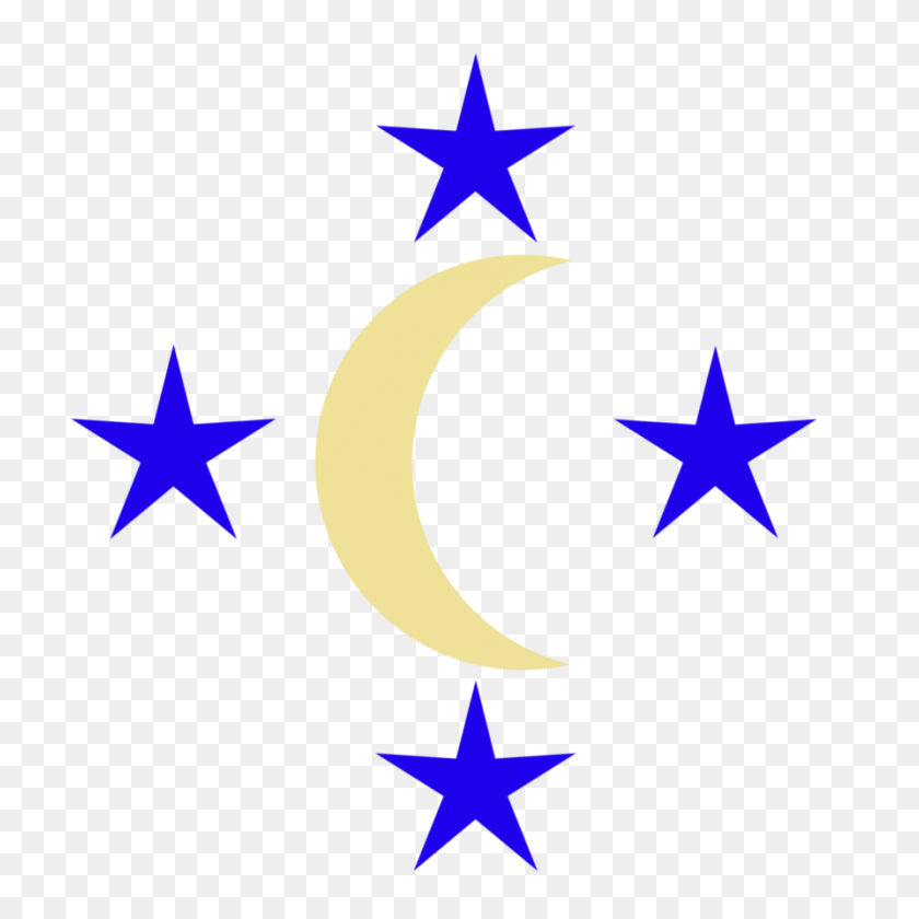 894x894 Image - Moon And Stars PNG