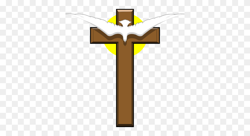 Image Dove Over Cross Cross Image - Cross And Dove Clipart