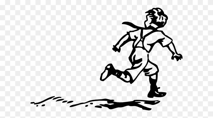 Image Of Boy Running Away - Running Away Clipart