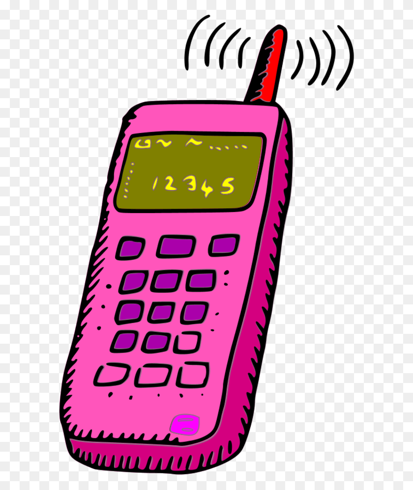Image Of Cellphone Clipart Cell Phone Clip Art Free - Nucleus Clipart