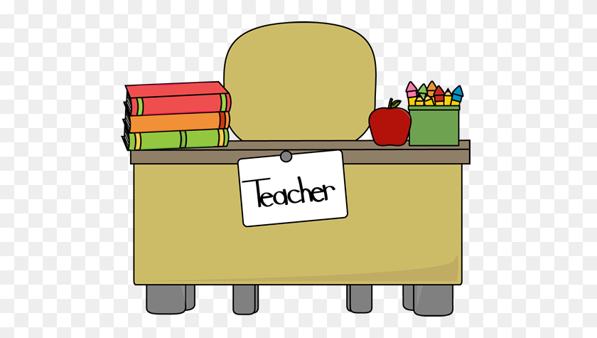500x415 Image Of Classroom Desk Clipart Pin Student Desk Clip Art - Classroom Objects Clipart