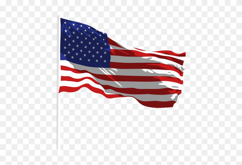 Image Of Usa Flag Waving, Gif, Png, Emoji Flag Images - Waving American Flag PNG