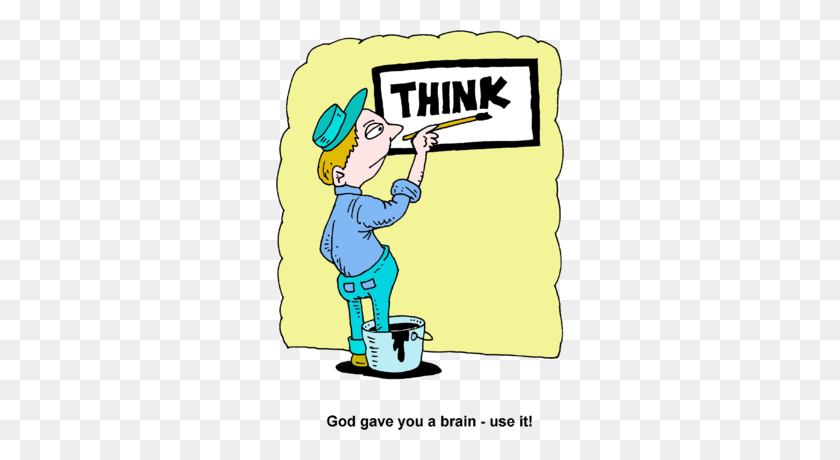 Image Painting With One Foot In Paint Can Painting The Word Think - What Do You Think Clipart