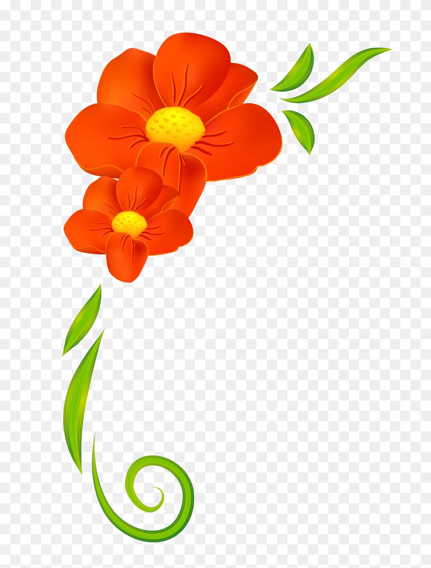 Image Result For Clipart Spring Flowers Flowers Orange Flower