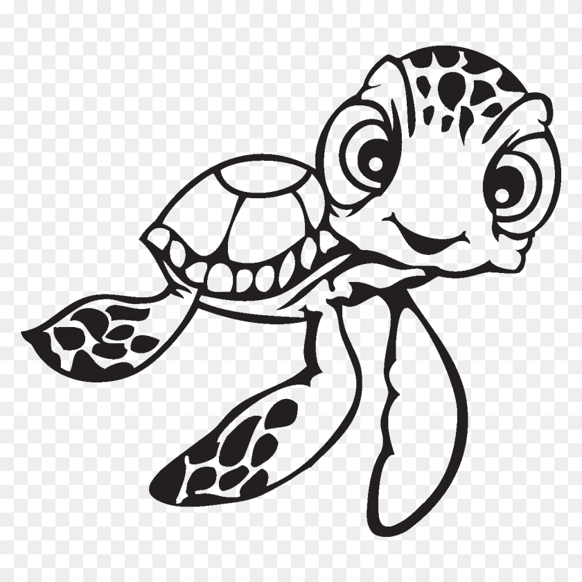 Image Result For Cute Drawings Of Turtles Abby Art - Sea Turtle Clipart Black And White